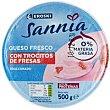 Queso batido 0% con fresa Tarrina 500 g Eroski Sannia