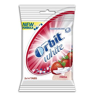 Orbit Chicle white fresa acida 14 Tableta pack-2 54 grs