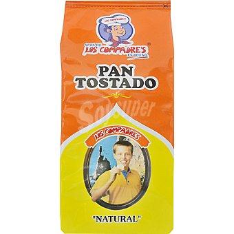 Los Compadres pan tostado natural Paquete 240 g