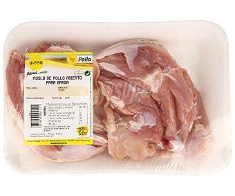 Muslo Bandeja de de pollo abierto, especial para hacerlo a la brasa 350 gramos aproximados