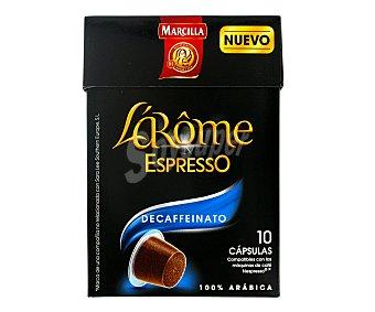 L'Arôme Espresso Marcilla Café Largo Descafeinado L'Arôme Espresso Cápsulas - Intensidad 5 - 100% Arábica