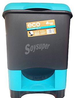 Bosque Verde Cubo basura pedal 22 l negro / verde 1 unidad