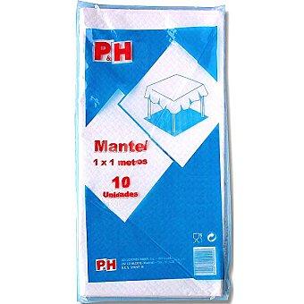 P & H Manteles Blancos 100 x 100 10 unidades