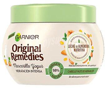 Original Remedies Garnier Mascarilla con yogur y leche de almendras, para cabellos faltos de hidratación 300 ml