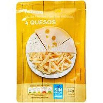 Eroski Salsa fresca 4 quesos Bolsa 140 g