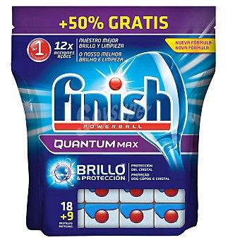 Finish Detergente lavavajillas maquina pastillas quantum regular 18+50%