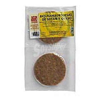BIOSISEA Hamburguesas de seitán y queso Paquete 180 g