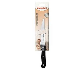 METALTEX Cuchillo especial para deshuesar con hoja de acero inoxidable de 25 centímetros forjada en una única pieza, modelo Profesional 1 Unidad