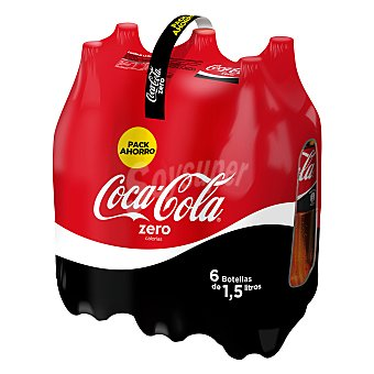 Coca-Cola Refresco de cola zero Pack 6x1,5 l