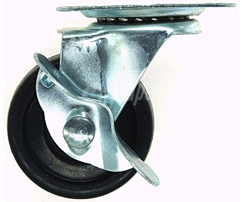 Producto Alcampo Rueda de acero con placa giratoria de 60 milímetros alcampo