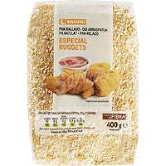 Eroski Pan rallado nuggets paquete 400 g