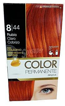 Deliplus Tinte coloracion permanente Nº 8,44 rubio claro cobrizo (contiene colageno para hidratar) u