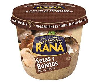 Rana Salsa fresca de setas y boletus elaborada con ingredientes 100% naturales 180 g