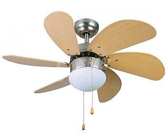 Orbegozo Ventilador de techo 15075 N, 50W, 6 aspas, 3 velocidades, diámetro 80cm, 1 luz CP 15075N