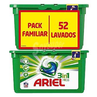 Ariel Detergente 3 en 1 en cápsulas 52 lavados