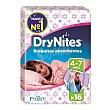 Braguitas para niñas absorbentes de 4 a 7 años paquete 16 uds DryNites