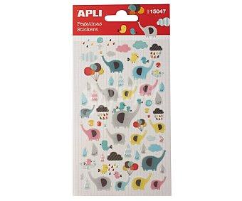APLI Pegatinas luminosas, figuras de elefanes y globos, appli