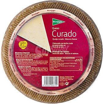 El Corte Inglés Queso castellano curado elaborado con leche cruda peso aproximado pieza 3,1 kg