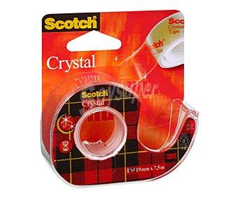 Scotch Cinta adhesiva transparente, con portarollos, 7,5cmx19 metros 1 unidad