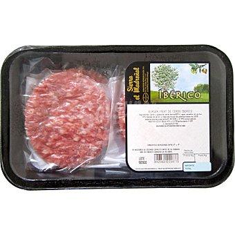 SIERRA EL MADROÑAL Hamburguesa de cerdo ibérico Bandeja 350 g