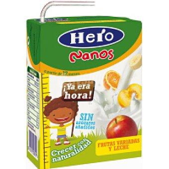 Hero Baby Zumo de leche con fruta variada Nanos pack 2x200 ml