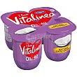 Yogur Desnatado Natural Edulcorado 0% Materia Grasa y Azucares Añadidos 4 Unidades de 125 Gramos Vitalínea Danone