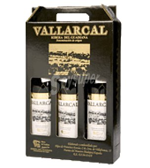 Vallarcal Estuche vino tinto D.O. Ribera de Guadiana Pack de 3x75 cl