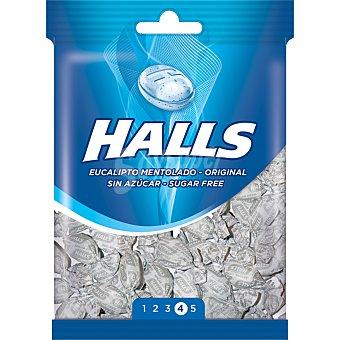 Halls Caramelos duros sabor eucalipto sin azúcar Bolsa 100 g
