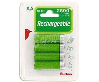 Auchan Pilas recargables A4 ni-mh 2500 mah 4 unidades