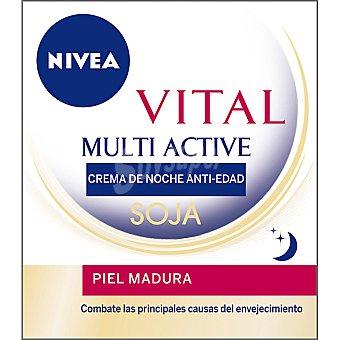 Nivea Crema de noche anti-edad soja para piel madura Vital Multi Active Tarro 50 ml