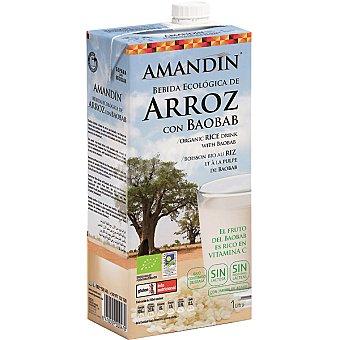 AMANDIN Bebida ecológica de arroz con baobab sin lactosa rica en vitamina C Envase 1 l