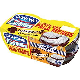 De Postre Danone Copa de chocolate-nata Pack 4x115 gramos