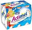 Yogur liquido de multifrutas pack 6 unidades 100 ml Actimel Danone