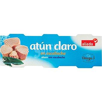 Aliada Atún claro en escabeche pack 3 latas 52 g neto escurrido Pack 3 latas 52 g