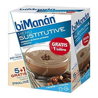 Bimanan Natilla sabor praliné en sobres 5 ud
