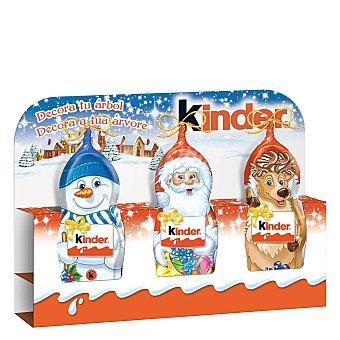 Kinder Muñecos de nieve de chocolate 3 ud