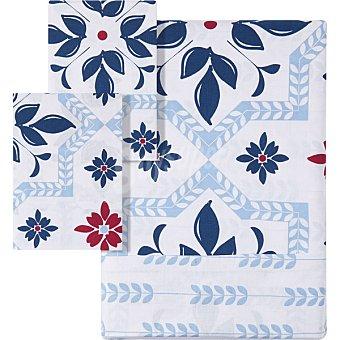 Unit Mosaico funda nordica Mosaico color azul para cama 135 cm