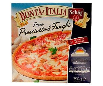 Schär Pizza sin gluten de jamón y champiñones 350 g