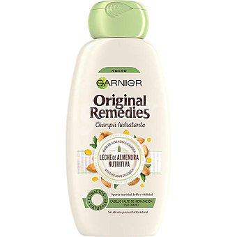 Original Remedies Garnier Champú hidratante leche de almendra ecológica para cabello normal falto de hidratación Bote 300 ml