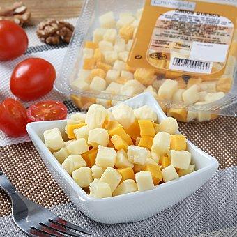 Juan Luna Dados de queso edam, gouda y cheddar 80 g Envase de