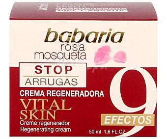 Babaria Crema regeneradora con rosa mosqueta para pieles cansadas 9 efectos Frasco 50 mililitros