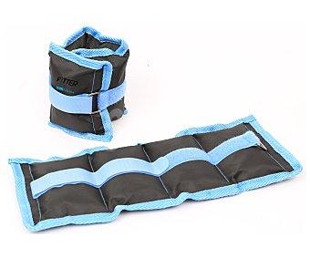 FYTTER Pesas para los tobillos en talla única y perfectamente ajustables gracias a su cierre de velcro 2 Unidades