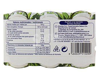 Auchan Yogur l.casei desnatado sin materia grasa (leche fermentada desnatada para beber, con edulcorantes) Pack de 6 unidades de 100 gramos