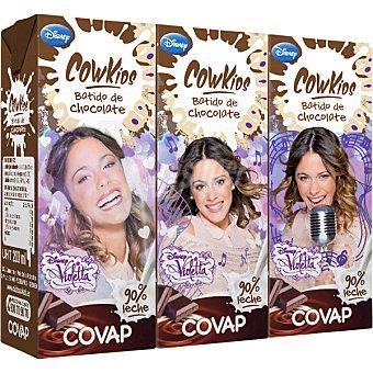 Covap Batido de chocolate 90% leche (Violetta) Cowkids pack 3 envases 200 ml