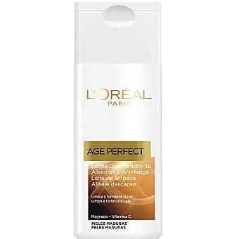 Age Perfect L'Oréal Paris Leche desmaquillante alisadora y anti-fatiga frasco 200 ml