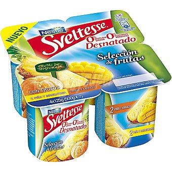 Sveltesse Nestlé Yogur 0% fruta temporada Pack 4x125 g