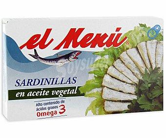 El Menu Sardinillas en Aceite Vegetal 7/10 Piezas Lata 65 Gramos