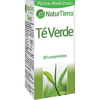 NaturTierra té verde envase 160 g 80 comprimidos