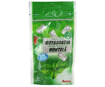 AUCHAN Chicles de hierbabuena sin azúcar 32 Unidades