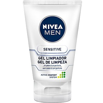Nivea For Men Gel limpiador Sensitive sin jabon Tubo 100 ml